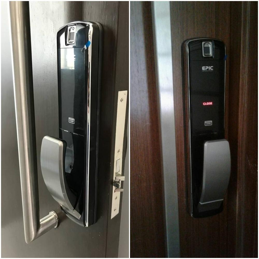Epic Metallic Push Pull Digital Door Lock With Epic